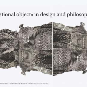 Lecture Course at TU Vienna (a-theory institute) winter 2015 // from form to spectrum – the »computational object« in design and in philosophy